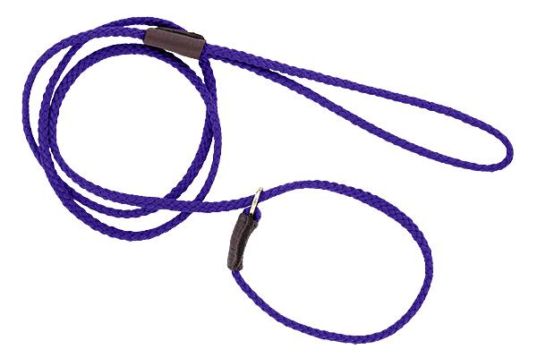 Mendota British-style Mini Slip Lead - Purple, 1/8in. x 54in.