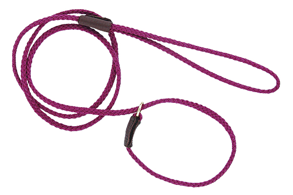 Mendota British-style Mini Slip Lead - Raspberry, 1/8in. x 54in.