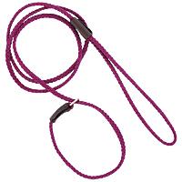 Mendota British-style Mini Slip Lead - Raspberry, 1/8in. x 54in.