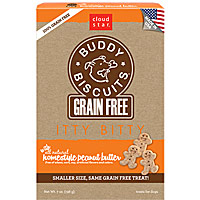 Cloud Star Grain-Free Itty Bitty Buddy Biscuits - Peanut Butter