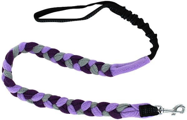 Bungee Fleece Tug Leash - Cool Purple