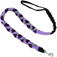 Bungee Fleece Tug Leash - Cool Purple
