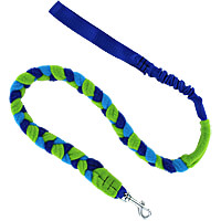 Bungee Fleece Tug Leash - Ocean Waves