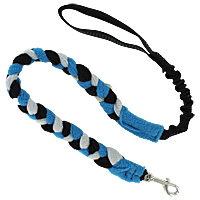 Bungee Fleece Tug Leash - Mountain Blue