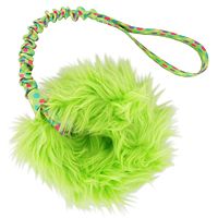 Tribble Trouble Ring with Bungee Handle - Lime Dots & Lime