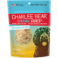 Charlee Bear Original Crunch Dog Treats - Liver, 1 lb.