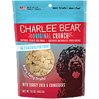 Charlee Bear Original Crunch Dog Treats - Turkey Liver and Cranberry, 1 lb.