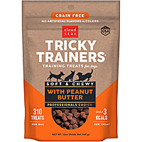 Cloud Star Tricky Trainers Soft & Chewy Treats - Peanut Butter, 12 oz.
