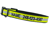 Reflective Personalized Embroidered Dog Collars