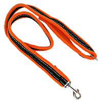 Dog Games Fleece-Lined Leashes - 3.28 ft., High Visibility Colors