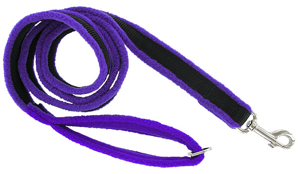 Dog Games Fleece-Lined Leashes - 3.28 ft., Solid Colors