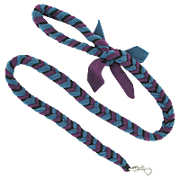 Fishbone Braided Fleece Tug Leash - Berry Blast, 4ft.