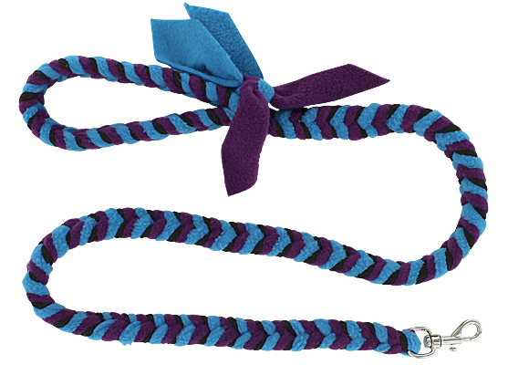 Fishbone Braided Fleece Tug Leash - Reef, 4ft.