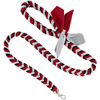 Fishbone Braided Fleece Tug Leash - Sprint, 4ft.