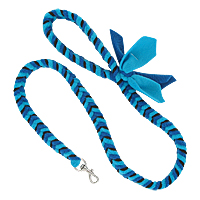 Fishbone Braided Fleece Tug Leash - Blue Skies, 4ft.