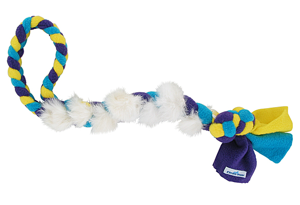 Fleecy Fluffy Fur Braided Tug Toy - Bunny, Large