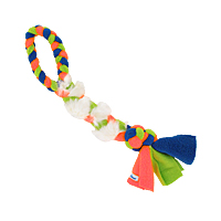Fleecy Fluffy Fur Braided Tug - Bunny, Small