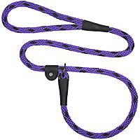 Mendota British-style Slip Leads - Black Ice Purple, 6 ft.