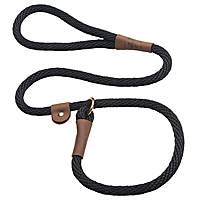 Mendota British-style Slip Leads - Black, 6 ft.