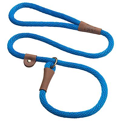 Mendota British-style Slip Leads - Blue, 6 ft.
