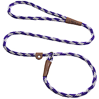 Mendota British-style Slip Leads - Amethyst, 6 ft.