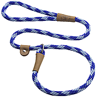Mendota British-style Slip Leads - Sapphire, 6 ft.