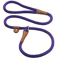 Mendota British-style Slip Leads - Purple, 6 ft.