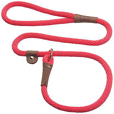 Mendota British-style Slip Leads - Red, 6 ft.