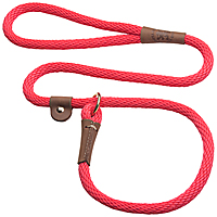Mendota British-style Slip Leads - Red, 6 ft.