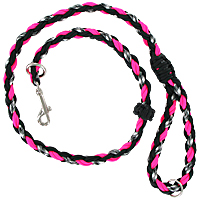 Slip or Clip Agility Leads - Ghost Pink