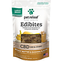 Pet Releaf Original Hemp Oil Edibites - Large Breed, Peanut Butter & Banana