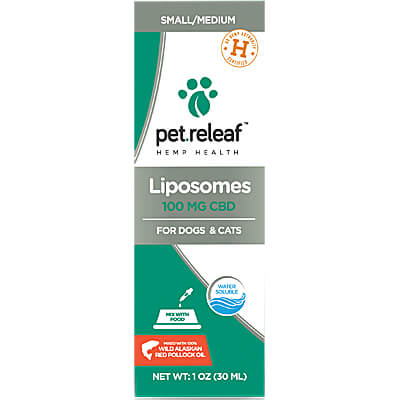 Pet Releaf Liposome Hemp Oil - 100mg Active CBD for Small to Medium Dogs
