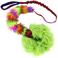 Tribble Trouble Ring Chaser - Lime Tribble with Long Bungee Handle