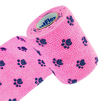 PetFlex Vet Wrap & Bandage - Paw Prints --Only 2 Inch Available--