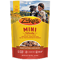 Zukes Mini Naturals - Peanut Butter and Oats, 1 lb.