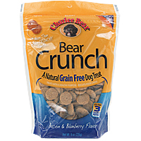Bear Crunch Grain-Free Dog Treats - Bacon and Blueberry, 8 oz.