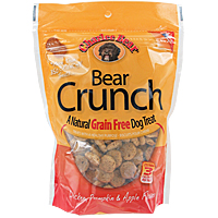 Bear Crunch Grain-Free Dog Treats - Chicken, Pumpkin and Apple, 8 oz.