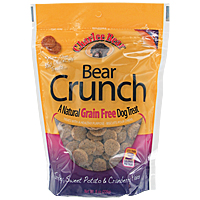 Bear Crunch Grain-Free Dog Treats - Turkey, Sweet Potato and Cranberry, 8 oz.