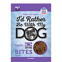 I'd Rather Be With My Dog Bites - Salmon, 5 oz.