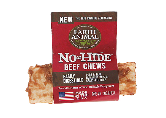 Earth Animal USA No Hide Chews - Beef, 4 in.