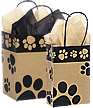 Shopping Bags with Paw Prints