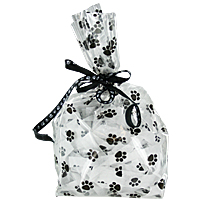 Paw Prints Cello Bags - 5 Cups
