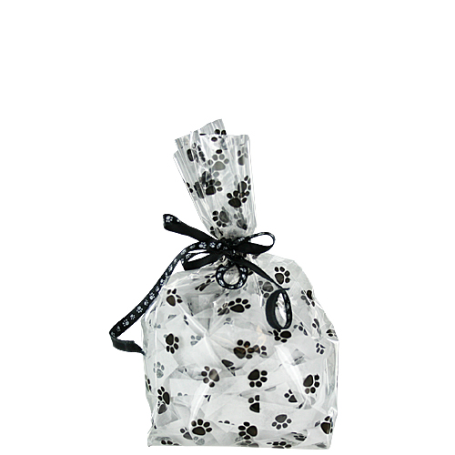 Paw Prints Cello Bags - 1.5 Cups