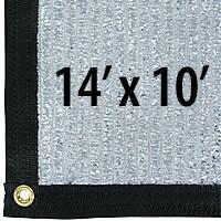 Cool Puppy 70% Aluminet UV-Coated Shade Cloth Panels - 14 ft. x 10 ft.