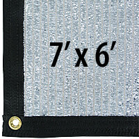 Cool Puppy 70% Aluminet UV-Coated Shade Cloth Panels - 7 ft. x 6 ft.