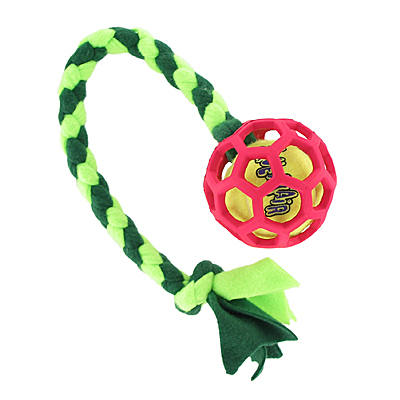 Beanie Braided Holee Roller Fleece Tugs with a Squeaker Ball
