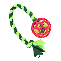 Beanie Braided Hol-ee Roller Fleece Tugs with a Squeaker Ball