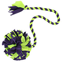 "Beanie Braided Puff Ball Tugs - 36"" Handle"