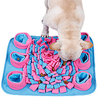 DogLemi Snuffle Mat & Slow Feeder Mat - Turquoise/Pink
