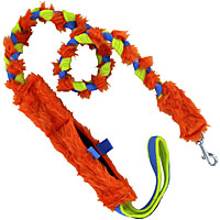 Floramicato Fluffy Nyam Leash with Food Pocket - Orange Fur, 4'